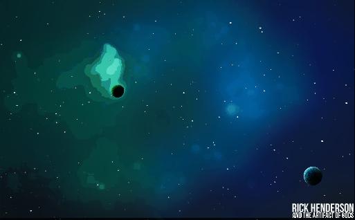 Blue Nebula Background